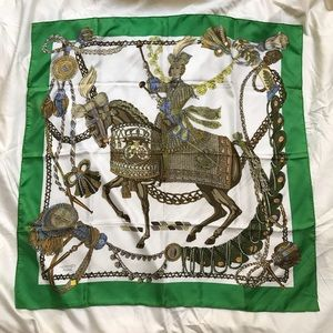 "*RARE* Hermes Silk Scarf ""Le Timbalier"""